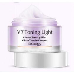 Увлажняющий крем для лица с тонирующим эффектом (Фиолетовый), 50 мл Bioaqua V 7