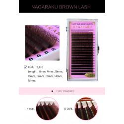 Ресницы Нагараку кориччнивые натуральные. Материалы для наращивания ресницы