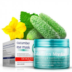 Патчи для глаз с огурцом и алоем увлажняют «BIOAQUA» cucumber eye mask (огурец)