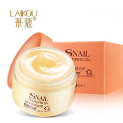 Snail Nutrition Несмываемая ночная маска для лица с экстрактом улитки (улитка розовая серия)