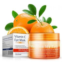 Маска для кожи вокруг глаз с экстрактом апельсина и зеленого чая укрепляющая BIOAQUA (80г,36шт)