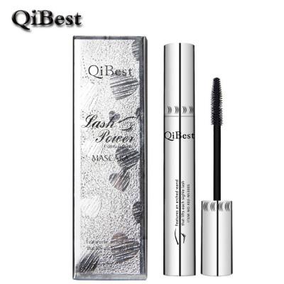 QiBest тушь для густых ресниц водоСТОЙКАЯ не размазывающаяся силиконовая кисть.