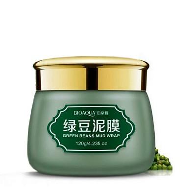 Противовоспалительная очищающая маска «BIOAQUA» с вулканической грязью и зелеными бобами. Green