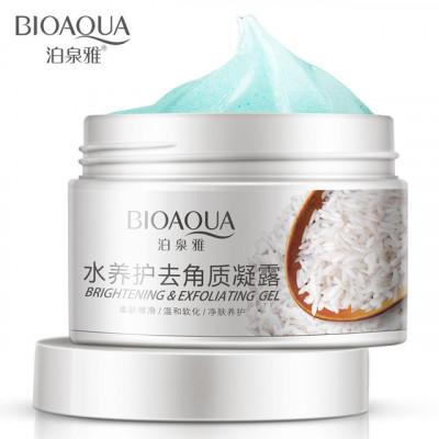 Пилинг-скатка с рисом, для очищения тела «Bioaqua» с маслом Ши